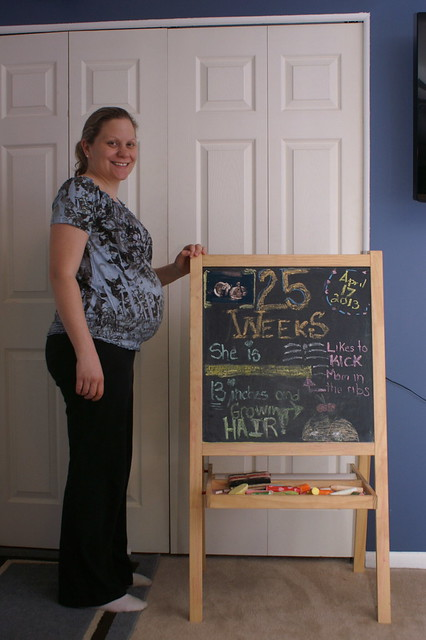 25 weeks pregnant with baby number three