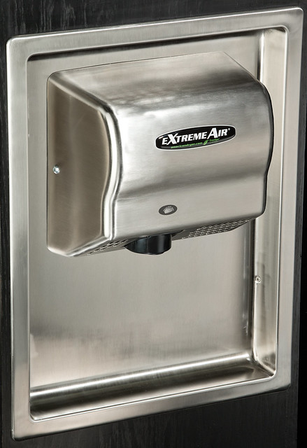 Recessed Wall Mount For Restroom Hand Dryers