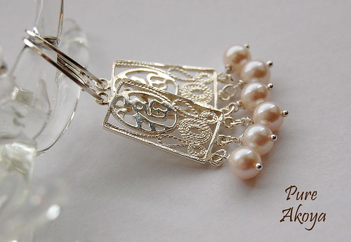 Akoya Pearl Chandelier-Style Earrings by gemwaithnia