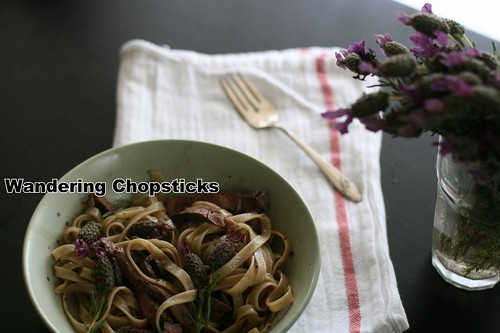 Lavender-Grilled Steak Fettucine 6
