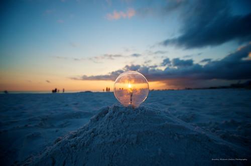 sunset lightpainting beach lightbulb sand nikon florida creative wideangle electricity beachsunset siestakey siestakeyfl nikond7000 nikkor1024mm