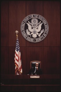Federal Judge James B. Parsons In The Federal Building In Chicago, 03/1974
