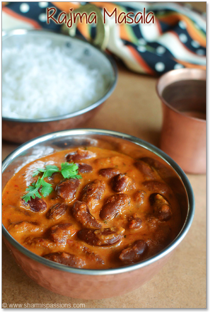 Rajma Masala Recipe - Punjabi Rajma Masala (Red Kidney Beans Curry ...