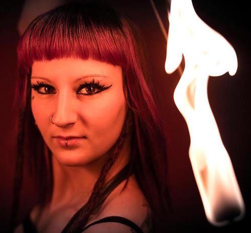 FireGypsy Sasha - fire Performer NYC