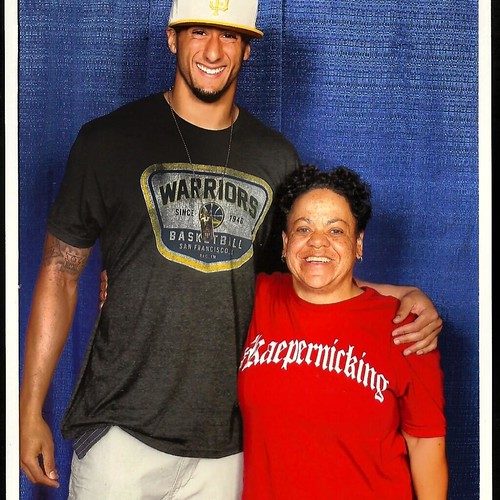 Colin Kaepernick in Sportiqe Warriors Moline Shirt