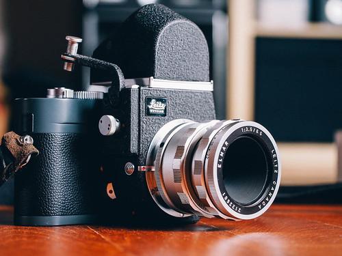 Leica ME with Visoflex III, 65 elmar.