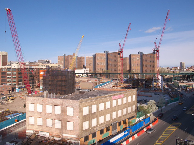 Manhattanville Under Construction
