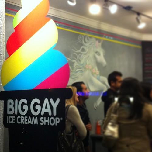 Avslutade dagen med en gay glass!