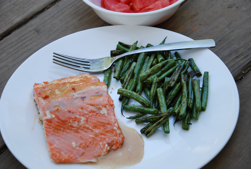 BBQ Teriyaki Salmon