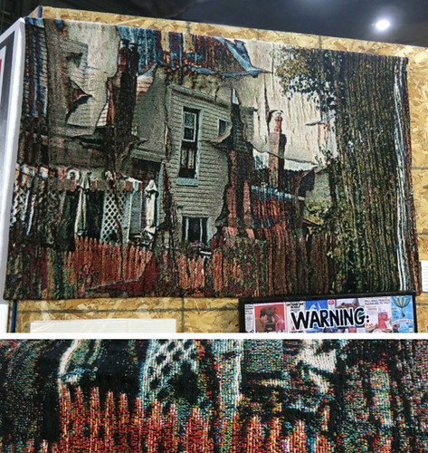 AAN2013 The House that Jack Built by Jay Ressler Composite photograph & Jaccquard Weaving