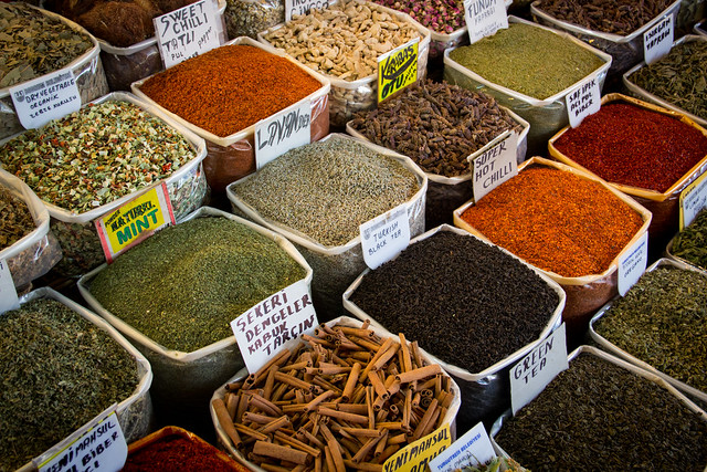 The Turkish Spice Market - Bazaar, Bodrum, Turkey
