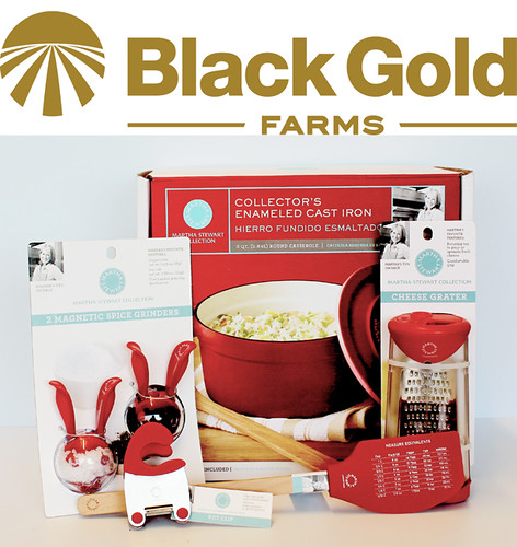 Win a Martha Stewart Collectin Kitchen Prize Package all donated by Black Gold Farms. Just ONE of the fabulous prize sets in our #BrunchWeek 2013 giveaway.