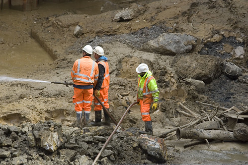 At the base of the Connaught Tunnel dig