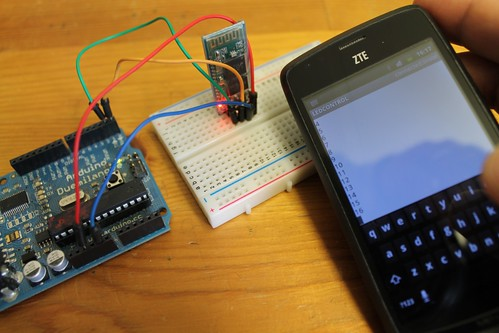 Basic experiment with Bluetooth and Arduino