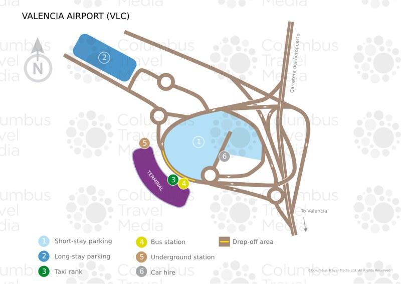 Mapa do aeroporto em Valencia