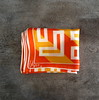 1960s Vera Neumann orange and yellow right angle print scarf
