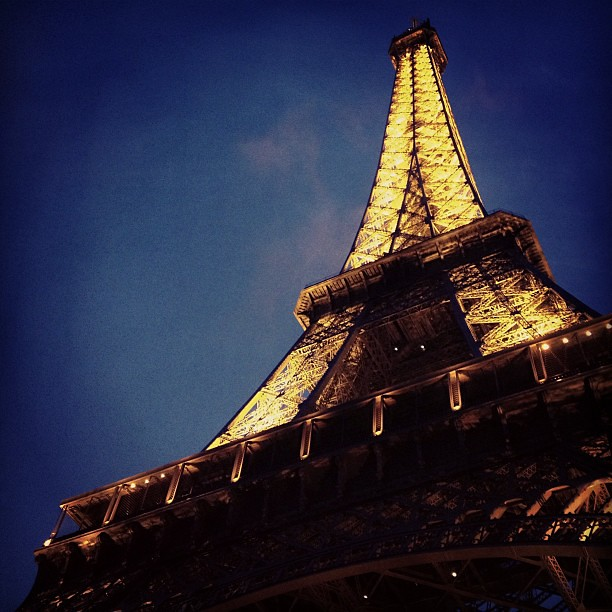 I knew the Eiffel Tower was tall, but oh wow, is it tall. #iannagoestoeurope