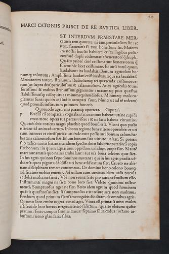 Title incipit of Scriptores rei rusticae