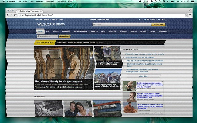 Reception: Yahoo! News