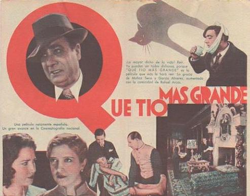 Cartel de ¡Que tio más grande! (1935)