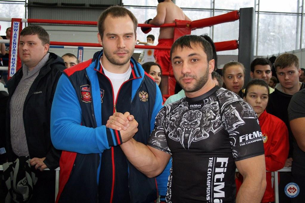 Ivan Matyushenko, Khadzimurat Zoloev - Moscow Armwrestling Championship 2014 │ Photo Source: armsport-rus.ru