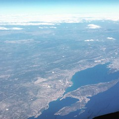 Looking towards Split on the Croatian coast about 38000 feet yesterday