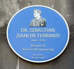 Photo of Sebastian Ziani de Ferranti blue plaque