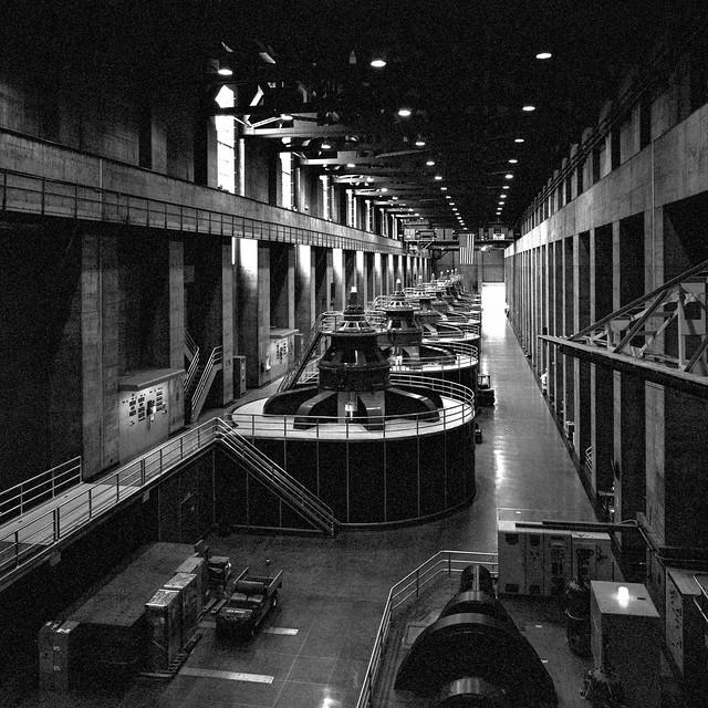 powerhouse. hoover dam. 2014.
