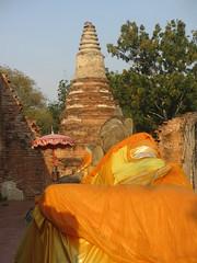 Ayutthaya - Wat Phutthaisawan reclining Buddha