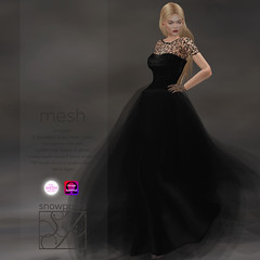 Snowpaws - Guipure Sable Gown with appliers