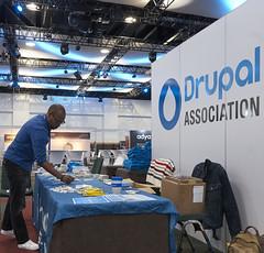 Drupal Association - Monday Exhibit Hall Setup - DrupalCon Dublin 2016