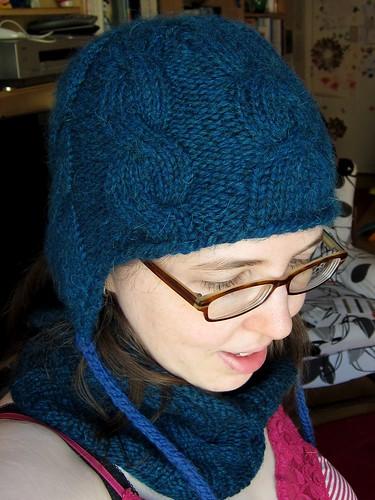 Blue Alpaca Sunrise Hat Redux w/ Earflaps