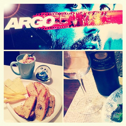 MARCH-Ender: ARGO with the husbo, cheese&wine, red wine and focaccia bread. Hello Calories! Hello April, please be good