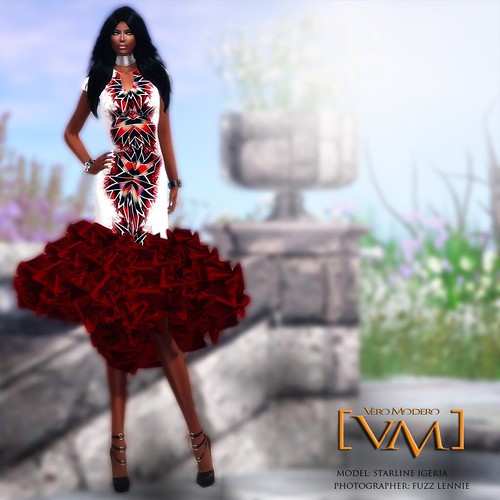 [VM] VERO MODERO _ Kaleidoscope Dress Red