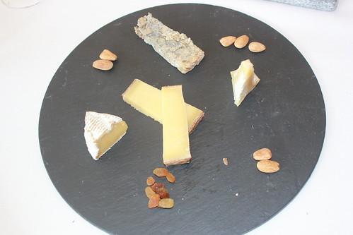 Tabla de quesos españoles y franceses