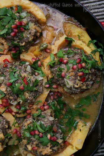Lamb-stuffed Quince with Coriander & Pomegranate 2