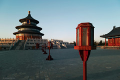 天坛的夕阳  /  the temple of heaven