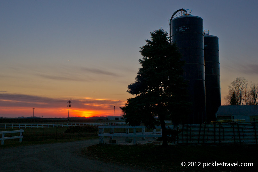 Sunset on Silos
