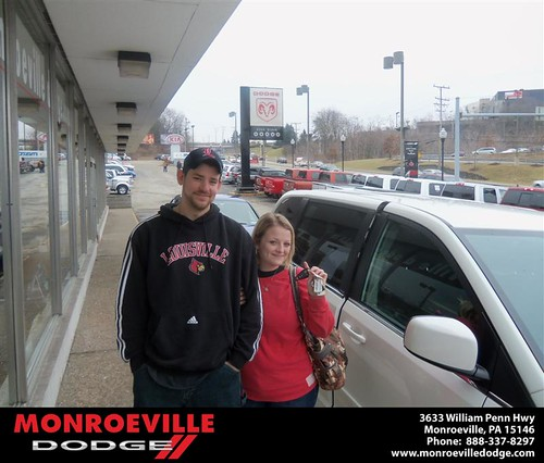 Monroeville Dodge would like to say Congratulations to Jared Davis on the 2012 Dodge Caravan by Monroeville Dodge