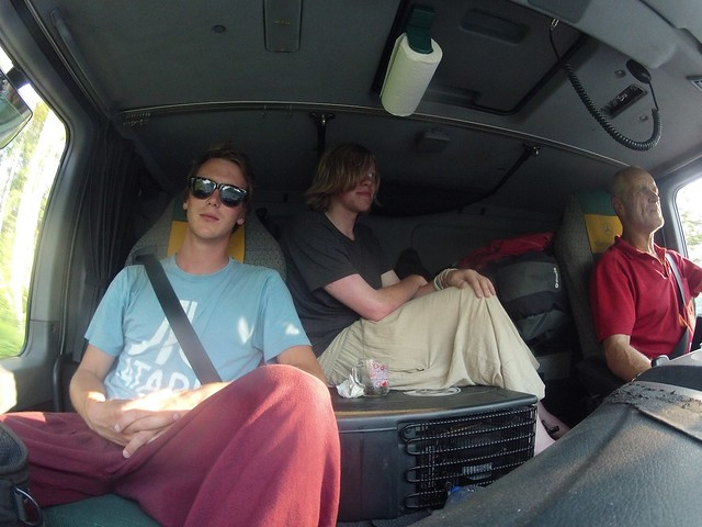 A Hitchhiking Englishman, an Irishman, and a Russian in a Truck...