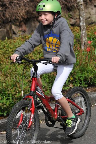 Joey Harrington school bike safety event-26