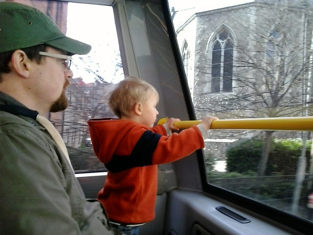 asher on the bus