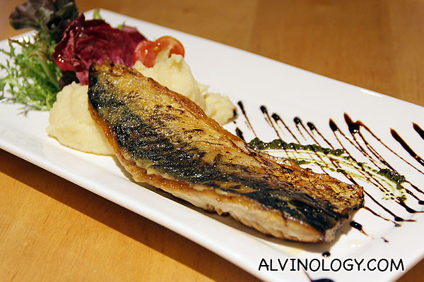Grilled mackerel at The Tasting Room