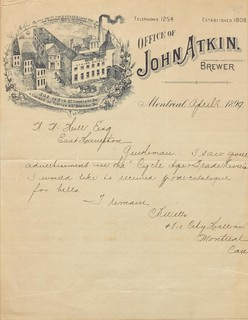 [Office of John Atkin, Brewer]