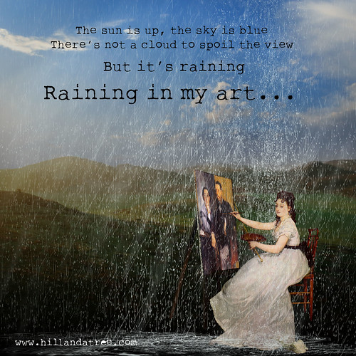 Raining in my art by Collinne Arbre