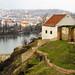 Small photo of Ancient walls above Vltava