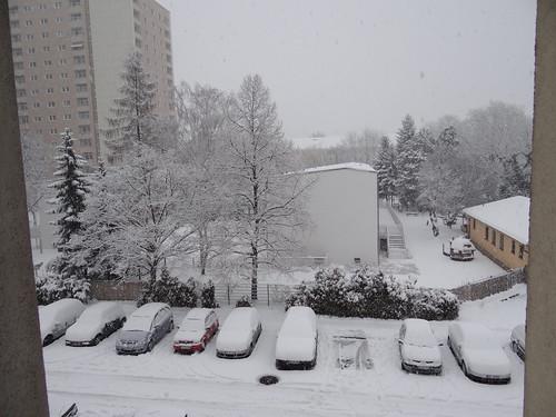 Im Winter die Felder, erstarrt und beschneit, wir leben in einer eisigen Zeit, mit Eis und Schnee 0519