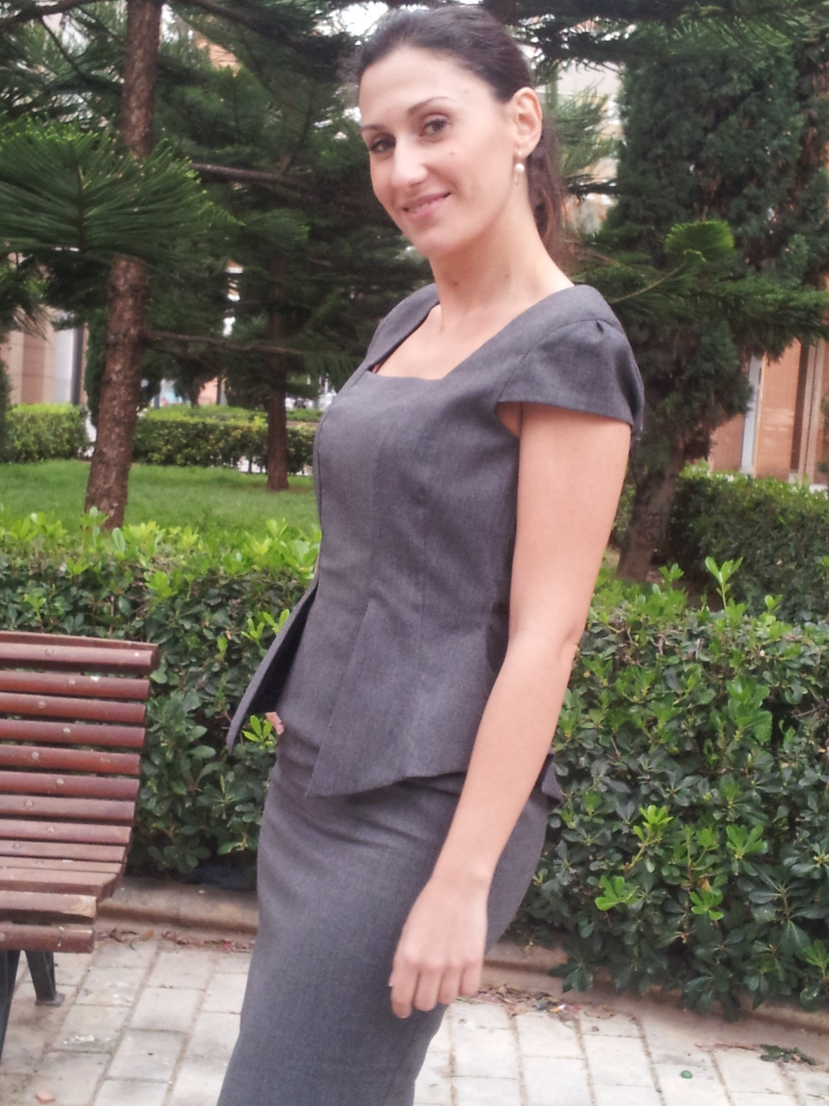 Blog de moda, vestido gris
