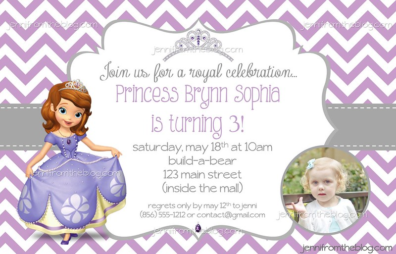 WW Its a Princess Party jenni from the blog – Build a Bear Invitations Birthday