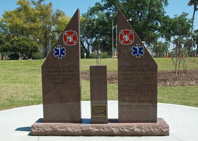 veterans memorial park lakeland fl in memory of polk county fl fire